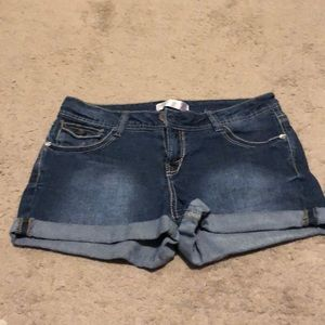 Cute jean shorts.